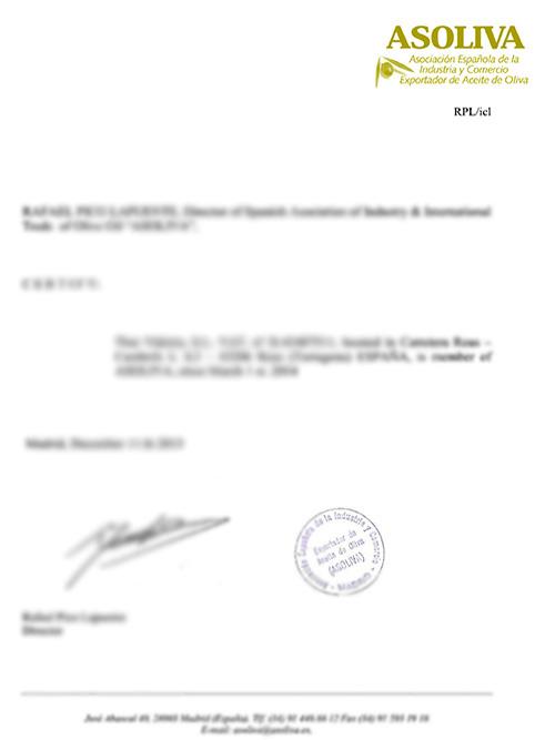 维多利亚资质:橄榄油协会会员