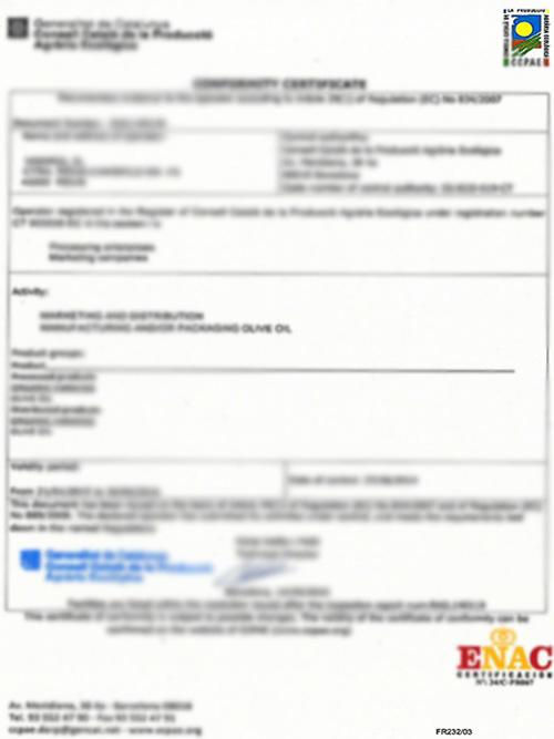 维多利亚资质:ENAC 认证证书